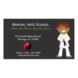 Martial Arts School Pack Of Standard Business Cards