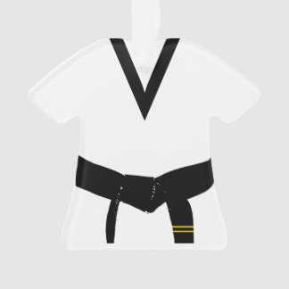 Martial Arts Second Degree Black Belt Uniform Ornament