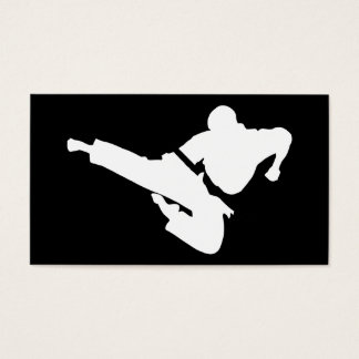 martial arts silhouette business card