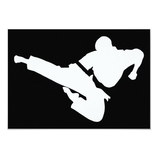 martial arts silhouette card