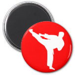 martial arts silhouette magnet