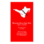 martial arts silhouette pack of standard business cards