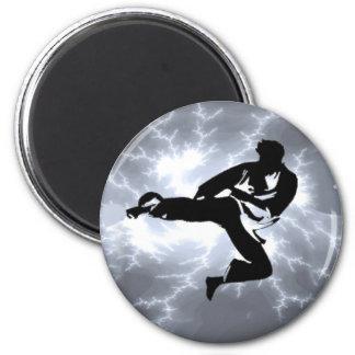 Martial Arts Silver Lightning man Magnet
