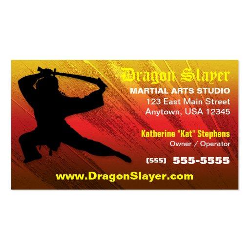 Martial Arts Studio Business Card
