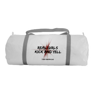 Martial Arts Tae Kwon Do Real Girls Kick Gym Duffel Bag