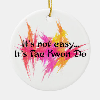 Martial Arts Taekwondo Pink and Orange Christmas Ornament