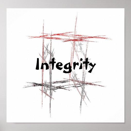 Martial Arts Taekwondo Tenets Integrity Poster