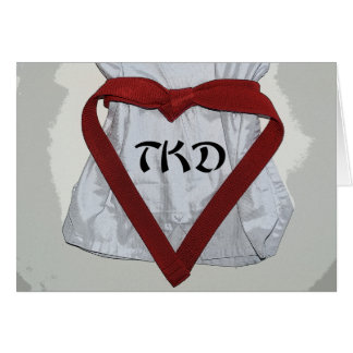Martial Arts Taekwondo Valentine Card