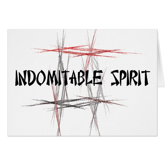 Martial Arts Tenets Indomitable Spirit Card