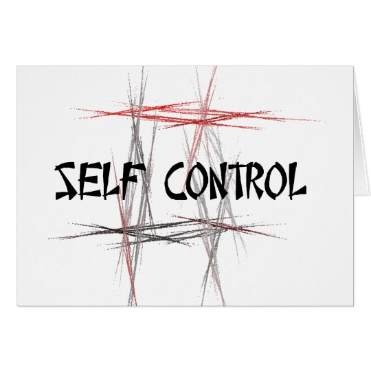 Martial Arts Tenets Self Control Card