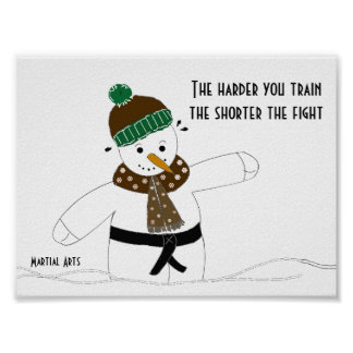 Martial Arts The Harder You Train Poster