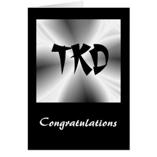 Martial Arts TKD Congratulations Note Card