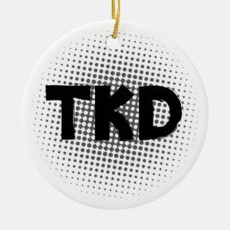 Martial Arts TKD Dots Christmas Ornament