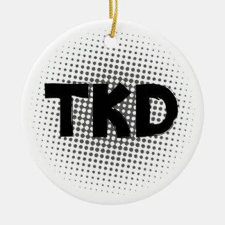 Martial Arts TKD Dots Round Ceramic Decoration