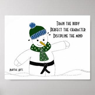 Martial Arts Train the Body Poster