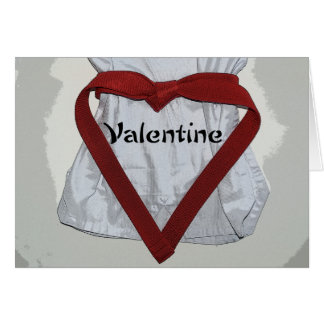 Martial Arts Valentine Note Card