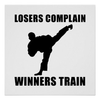 Martial Arts Winners Train Poster