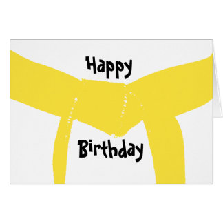 Martial Arts Yellow Belt Birthday Card