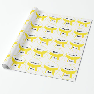 Martial Arts Yellow Belt Wrapping Paper