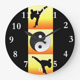 Martial Arts Yin Yang Clock