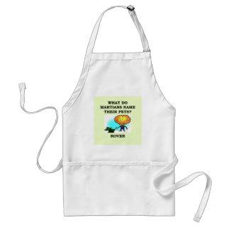 martian joke standard apron