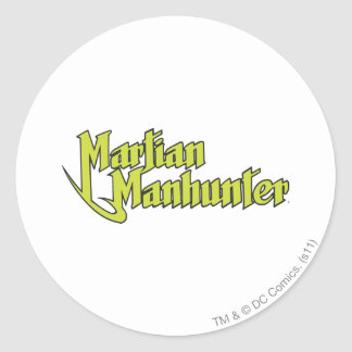 Martian Manhunter Logo Round Sticker