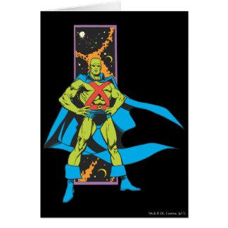 Martian Manhunter & Space Backdrop Card