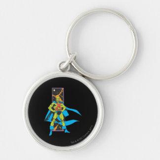 Martian Manhunter & Space Backdrop Key Ring