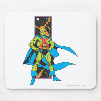 Martian Manhunter & Space Backdrop Mouse Pad