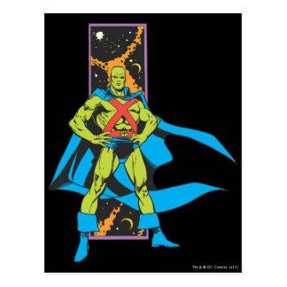 Martian Manhunter & Space Backdrop Postcard