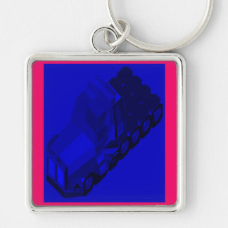 MARTIAN/MARS Space Truckin Conventional Cabs Silver-Colored Square Key Ring
