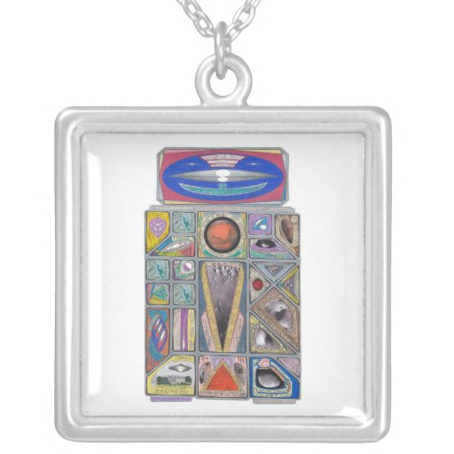 Martian Money Robot Currency Shield Necklaces