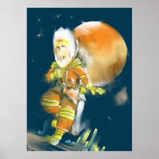 Martian Moon Print