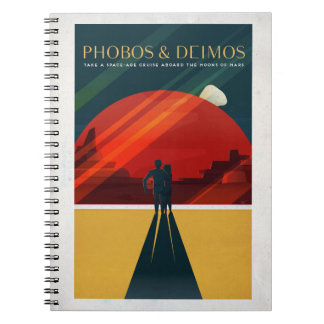 Martian Moons Phobos and Deimos Space Tourism Notebook
