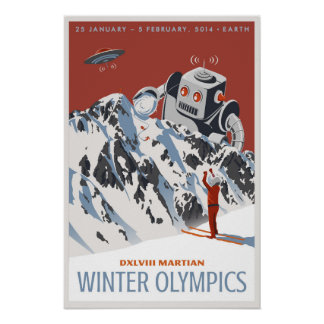 Martian Winter Olympics Poster
