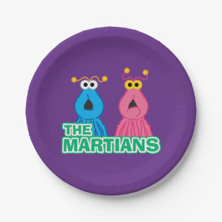 Martians Classic Style 7 Inch Paper Plate