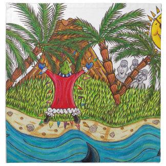 Martin and the desert island paradise napkin