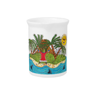 Martin and the desert island paradise pitcher