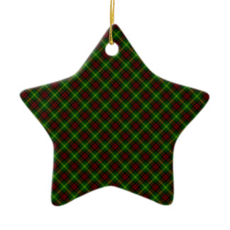 Martin Clan Tartan Scottish Design Ceramic Star Decoration