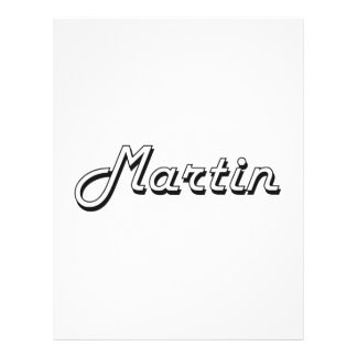 Martin Classic Retro Name Design 21.5 Cm X 28 Cm Flyer