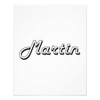 Martin Classic Retro Name Design 11.5 Cm X 14 Cm Flyer