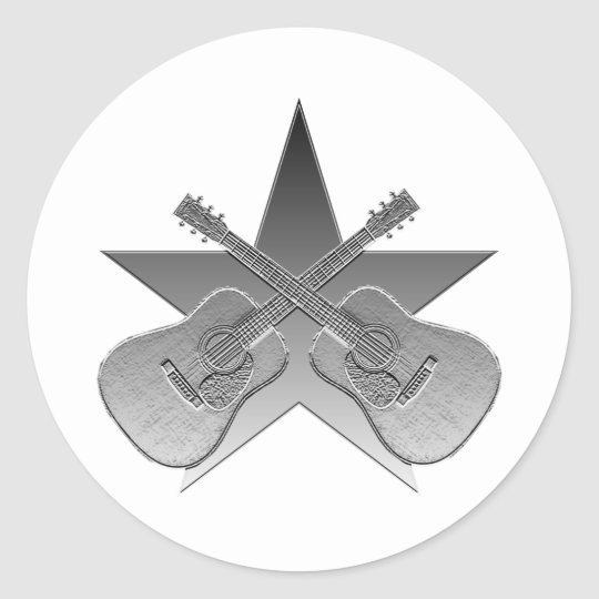 Martin D28 Metallic Star Classic Round Sticker