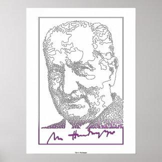 Martin Heidegger. German philosopher [013] Poster
