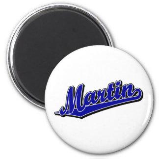 Martin in Blue 6 Cm Round Magnet