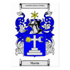 Martin (Ireland) Coat of Arms Postcard