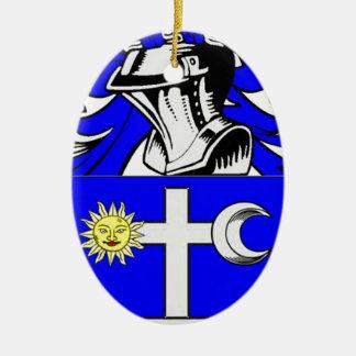 Martin (Irish) Coat of Arms Ceramic Oval Decoration