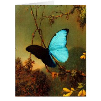 Martin Johnson Heade Blue Morpho Butterfly Big Greeting Card