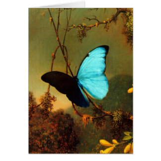 Martin Johnson Heade Blue Morpho Butterfly Card