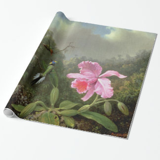 Martin Johnson Heade Orchid And Hummingbirds Wrapping Paper