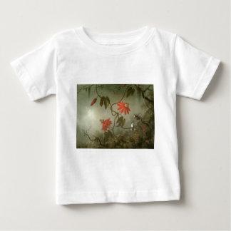 Martin Johnson Heade Passion Flowers and Hummingbi Tee Shirt